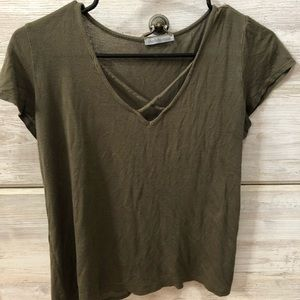 Charlotte Russe Green tee